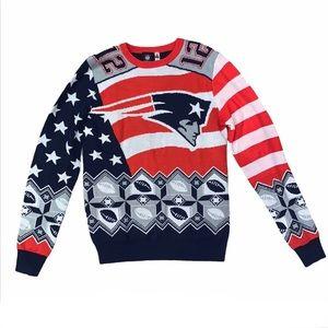 NWOT NFL Apparel Patriots Tom Brady Knit Sweater